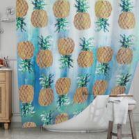 KESS InHouse® Pineapple Beach Shower Curtain