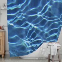 KESS InHouse® Blue Pool Shower Curtain