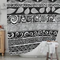 KESS InHouse® Tribal Evolution Shower Curtain