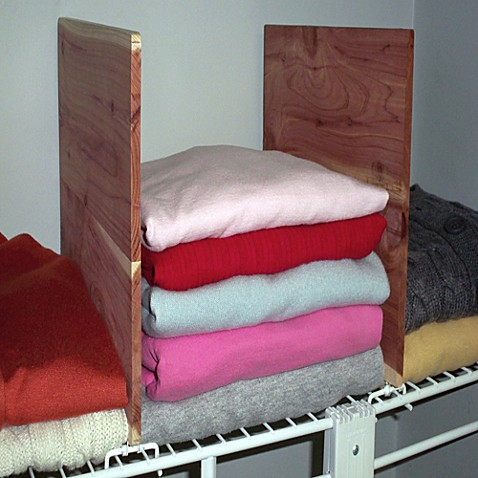 cedar closet 2 piece shelf dividers for wire shelving