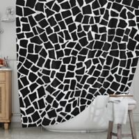 KESS InHouse® British Mosaic Shower Curtain in Black