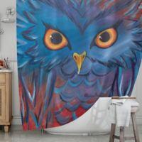 KESS InHouse® Hoot Shower Curtain