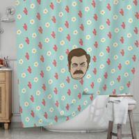 KESS InHouse® Bacon and Eggs Shower Curtain