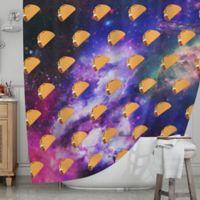 KESS InHouse® Taco Galaxy Shower Curtain