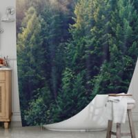 KESS InHouse® Red in Woods Shower Curtain