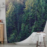 KESS InHouseR Red In Woods Shower Curtain