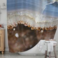 KESS InHouse® Blue Brown Quartz Shower Curtain