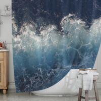 KESS InHouse® Sea Spray Shower Curtain