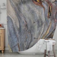 KESS InHouse® Milky Wood Shower Curtain