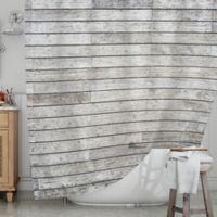 KESS InHouse® Wooden Walk Shower Curtain