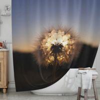 KESS InHouse® Glow Shower Curtain