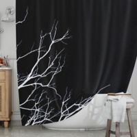 KESS InHouse® Winter Black Shower Curtain