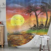 KESS InHouse® Maui Sunrise Shower Curtain