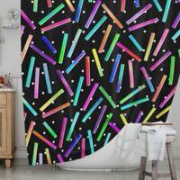 KESS InHouse® Confetti Party Shower Curtain