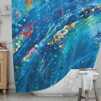 KESS InHouse® Big Wave Shower Curtain