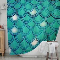 KESS InHouse® Mermaid Tail Shower Curtain