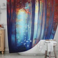 KESS InHouse® Dreams in Blue Shower Curtain
