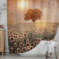 KESS InHouse® Tree and Sunflowers Shower Curtain
