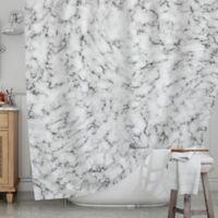 KESS InHouse® Marble Shower Curtain