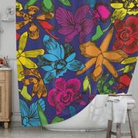 KESS InHouse® Lovely Orchids Shower Curtain