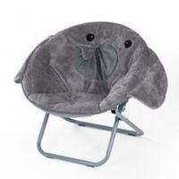 Heritage Kids Microfiber Animal Chair in Grey