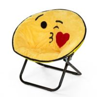 Heritage Kids Microfiber Emoji Chair in Yellow