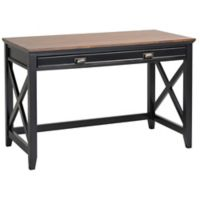 Homestar 1-Drawer Writing Desk in Black/Dark Brown