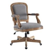 Linon Home Maybell Office Chair in Grey
