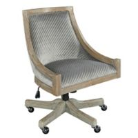 Linon Home Neela Quilted Office Chair in Grey