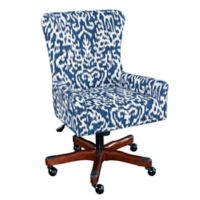 Linon Home Cecily Office Chair in Navy