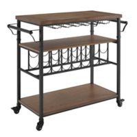 Linon Home Décor Products Austin Wine Cart in Black