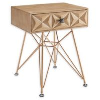 Linon Home Macon Single-Drawer Accent Table in Natural