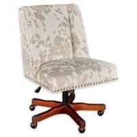 Linon Home Draper Office Chair in Brown/White Cow Print