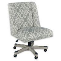 Linon Home Draper Office Chair in Neutral Dove Print
