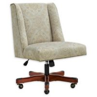 Linon Home Draper Office Chair in Neutral Paisley Print