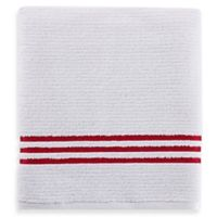 Evelyn Value Bath Towel in White/Red