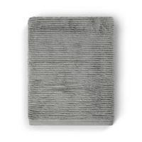 Casual Avenue Fibrosoft Slim Ribbed Bath Towel in Carbon
