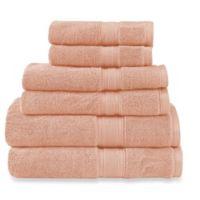 Wamsutta® Icon PimaCott® 6-Piece Bath Towel Set in Blush