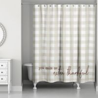 Designs Direct Plaid Shower Curtain in Grey