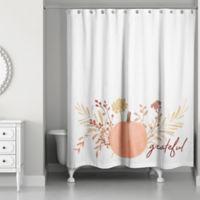 Designs Direct Pumpkin Shower Curtain in Orange