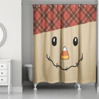 Designs Direct Scarecrow Shower Curtain in Brown