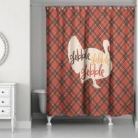 Designs Direct Plaid Turkey Shower Curtain in Red
