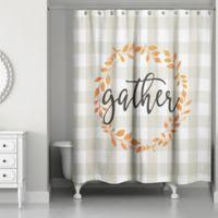 Designs Direct Gather Buffalo Check Shower Curtain