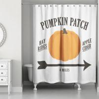 "Designs Direct ""Pumpkin Patch"" Shower Curtain in Orange"