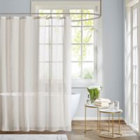 Madison Park Anna Shower Curtain in White