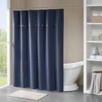Madison Park Finley Shower Curtain In Navy