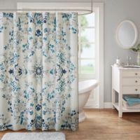 Madison Park Eden Shower Curtain in Stone