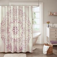 Madison Park Elise Shower Curtain in Purple