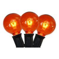 Sienna G40 Globe 10-Light String Light Set in Orange