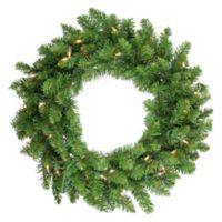 24-Inch Eastern Pine Pre-Lit Artificial Christmas Wreath